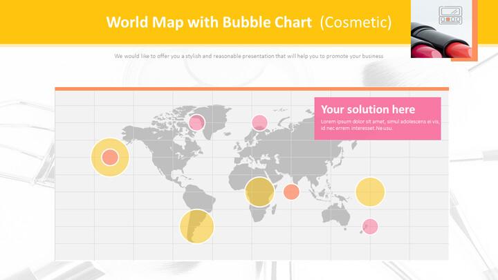 버블 차트가있는 세계지도 (화장품)_01