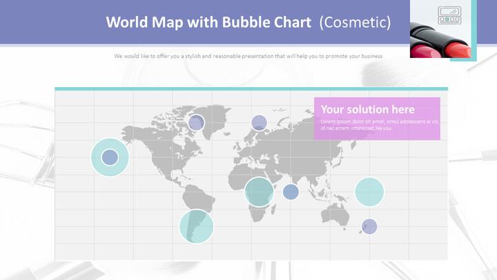 버블 차트가있는 세계지도 (화장품)_02
