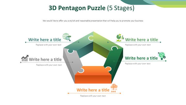 3D 펜타곤 퍼즐 다이어그램 (5 단계)_01