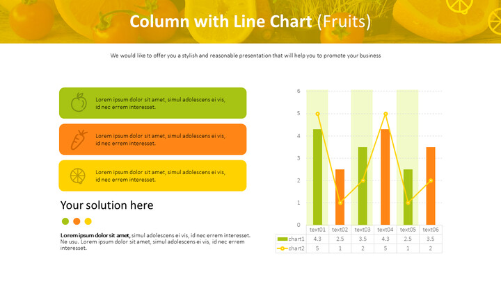 Column with Line Chart (Fruits)_01