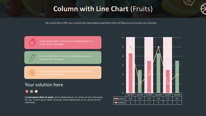 Column with Line Chart (Fruits)_02