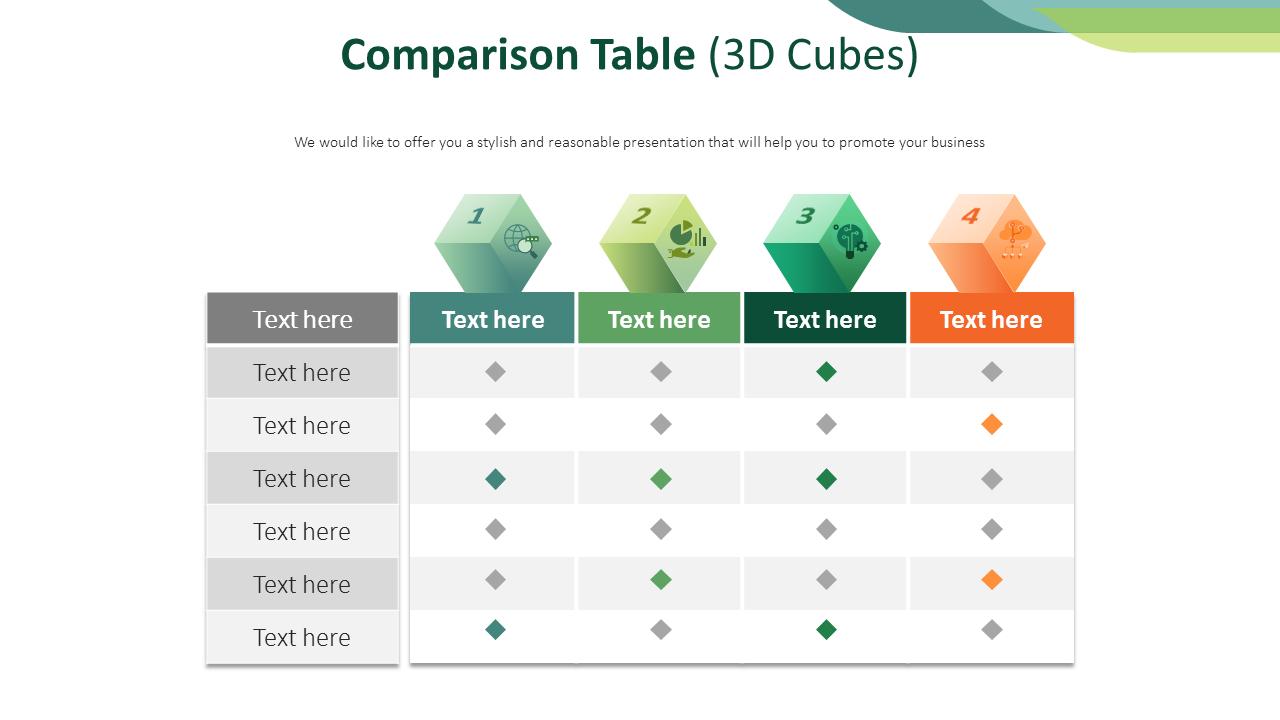 Comparison Checklist Template from imgscf.slidemembers.com