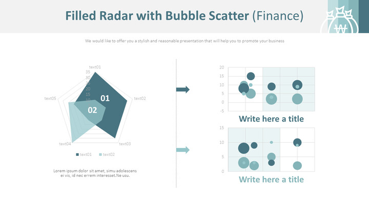 Filled Radar with Bubble Scatter (Finance)_01