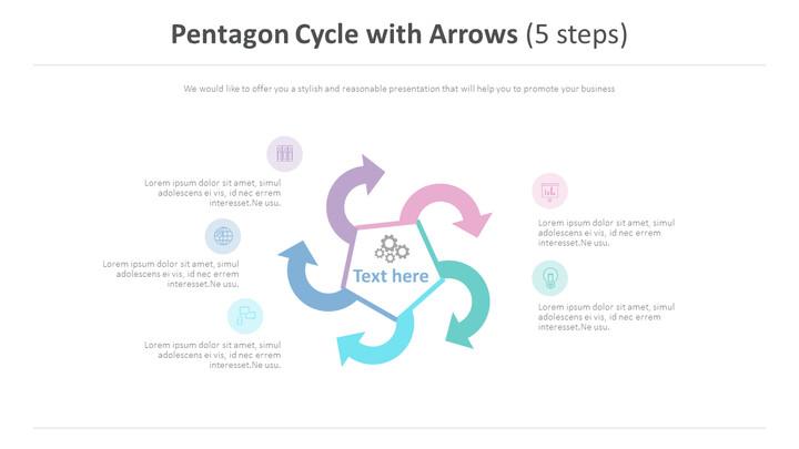 Pentagon Cycle with Arrows Diagram (5 steps)_01