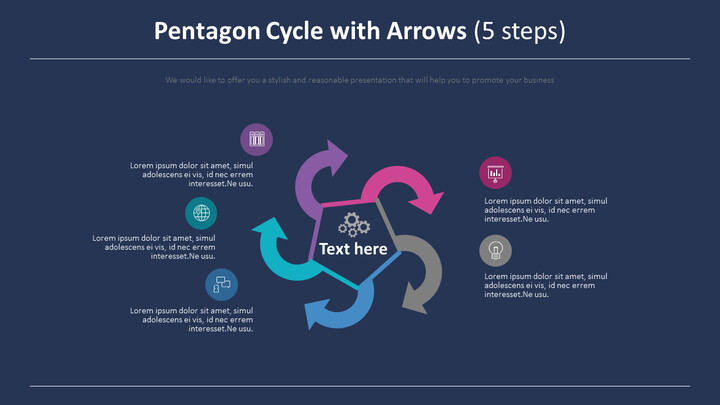 Pentagon Cycle with Arrows Diagram (5 steps)_02
