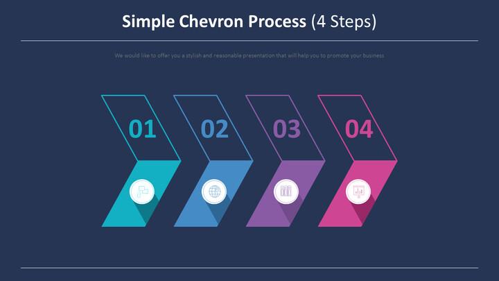 간단한 쉐브론 프로세스 다이어그램 (4 단계)_02