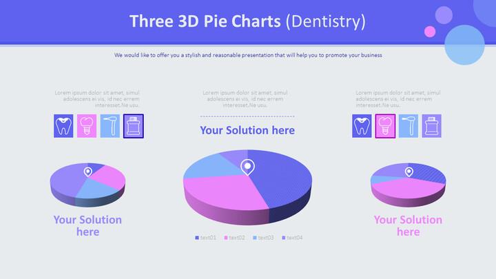 3 개의 3D 파이 차트 (치과)_01