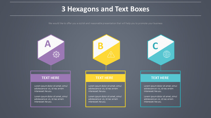 3 육각형과 텍스트 상자 다이어그램_01