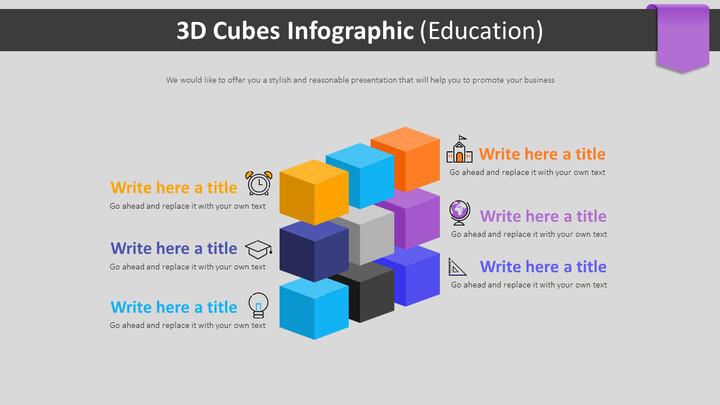 3D 큐브 Infographic 다이어그램 (교육)_02