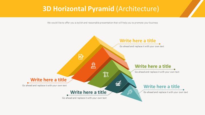 3D 가로 피라미드 다이어그램 (건축)_01