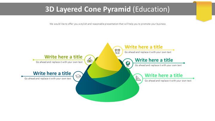 3D 계층화 된 콘 피라미드 다이어그램 (교육)_01