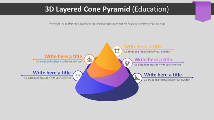 3D 계층화 된 콘 피라미드 다이어그램 (교육)_02