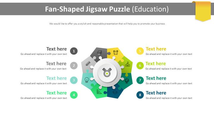 Fan-Shaped Jigsaw Puzzle Diagram (Education)_01