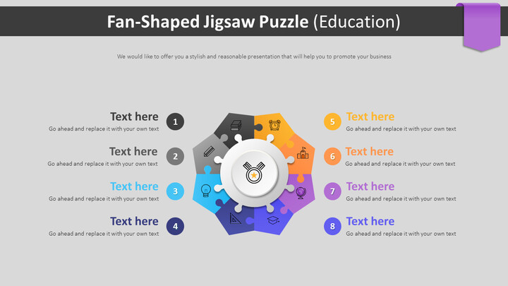 Fan-Shaped Jigsaw Puzzle Diagram (Education)_02