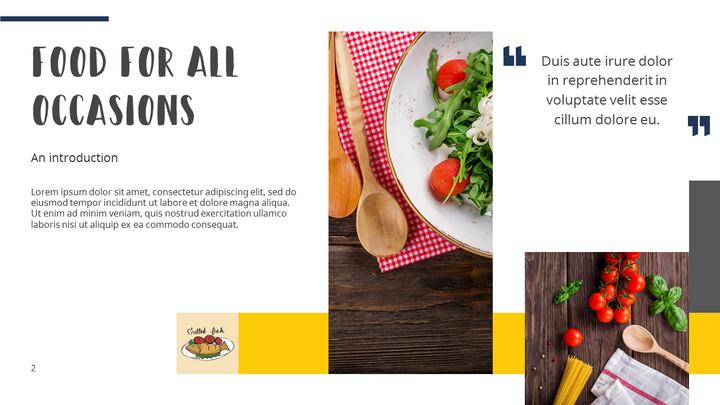 다양한 요리 (요식업) 파워포인트 템플릿 멀티디자인_02