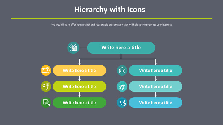 Hierarchy with Icons Diagram_02