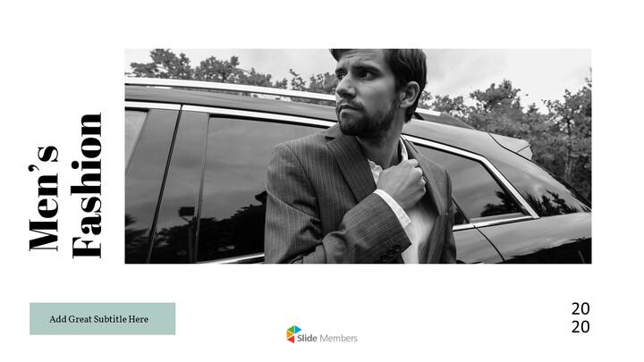 남자의 스타일과 패션 프레젠테이션 PowerPoint 템플릿 디자인_01