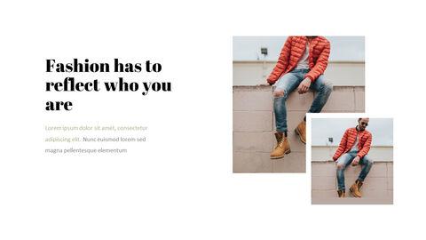 남자의 스타일과 패션 프레젠테이션 PowerPoint 템플릿 디자인_13