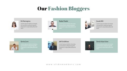 남자의 스타일과 패션 프레젠테이션 PowerPoint 템플릿 디자인_26