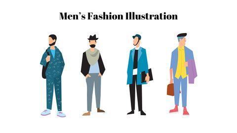 남자의 스타일과 패션 프레젠테이션 PowerPoint 템플릿 디자인_47