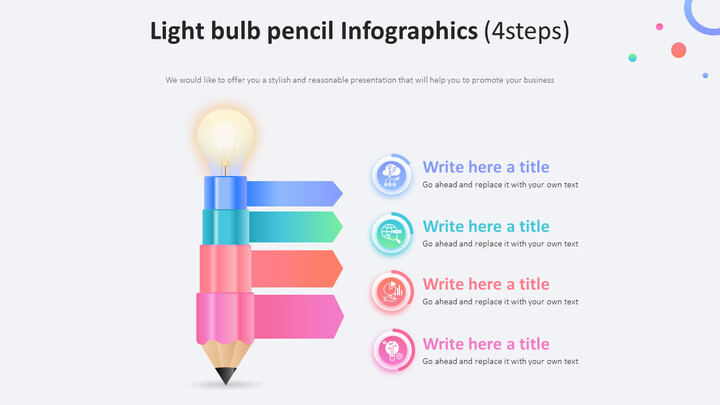 Pencil with Lightbulb Infographic Diagram (4steps)_01