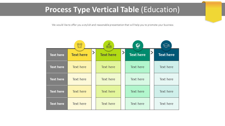 Process Type Vertical Table Diagram (Education)_01