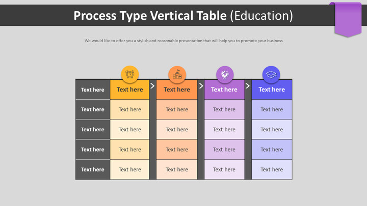 Process Type Vertical Table Diagram (Education)_02