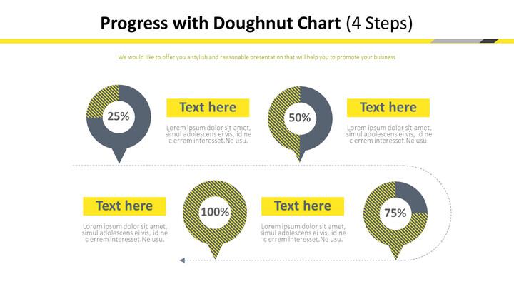 프로세스와 도넛 차트 다이어그램 (4 단계)_01