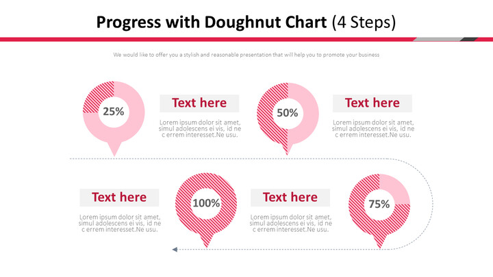 프로세스와 도넛 차트 다이어그램 (4 단계)_02