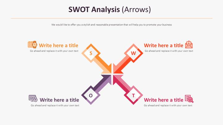 SWOT 분석 다이어그램 (화살표)_01