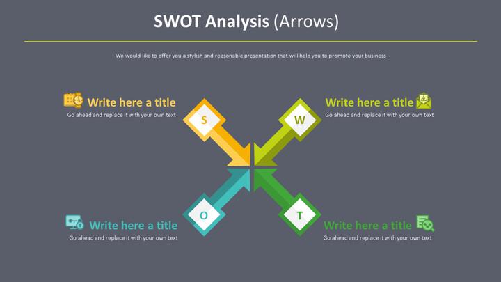 SWOT 분석 다이어그램 (화살표)_02