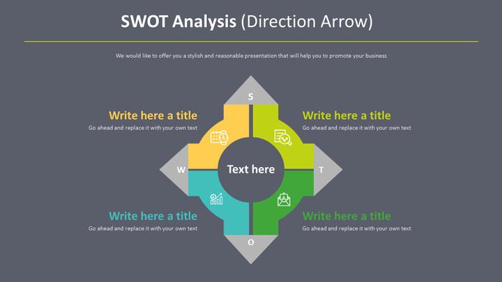 SWOT 분석 다이어그램 (방향 화살표)_02