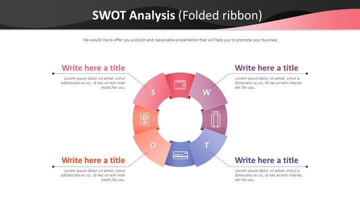 SWOT 분석 다이어그램 (접힌 리본)_01