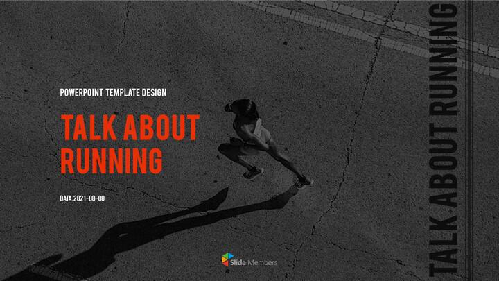 달리기, 육상, 마라톤 PowerPoint 템플릿 디자인_01