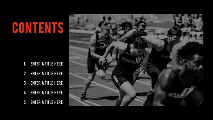 달리기, 육상, 마라톤 PowerPoint 템플릿 디자인_02