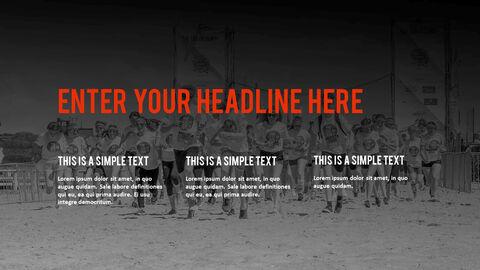 달리기, 육상, 마라톤 PowerPoint 템플릿 디자인_04