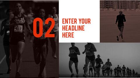 달리기, 육상, 마라톤 PowerPoint 템플릿 디자인_11