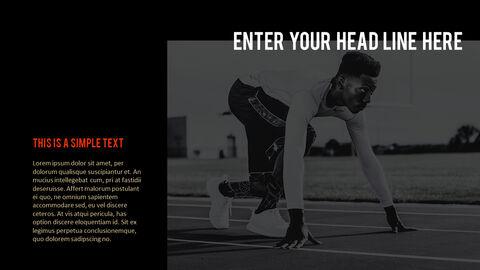 달리기, 육상, 마라톤 PowerPoint 템플릿 디자인_14