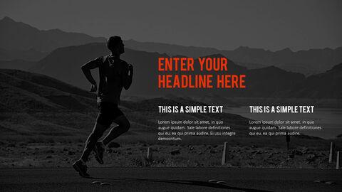 달리기, 육상, 마라톤 PowerPoint 템플릿 디자인_15
