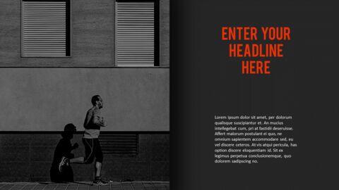달리기, 육상, 마라톤 PowerPoint 템플릿 디자인_21