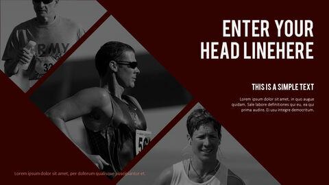 달리기, 육상, 마라톤 PowerPoint 템플릿 디자인_25