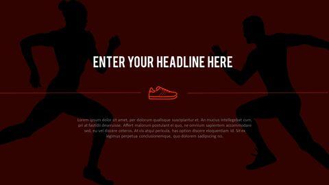 달리기, 육상, 마라톤 PowerPoint 템플릿 디자인_30