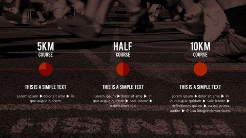 달리기, 육상, 마라톤 PowerPoint 템플릿 디자인_31