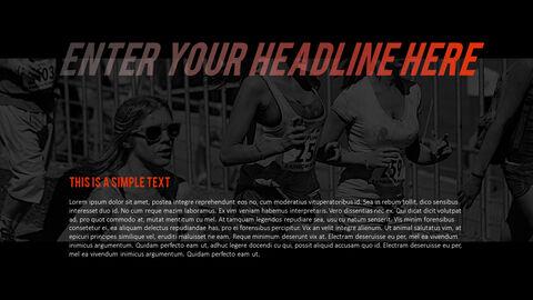 달리기, 육상, 마라톤 PowerPoint 템플릿 디자인_34