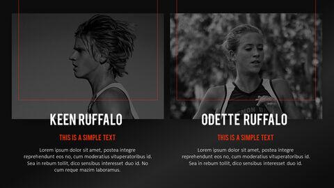 달리기, 육상, 마라톤 PowerPoint 템플릿 디자인_36