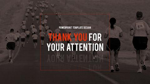 달리기, 육상, 마라톤 PowerPoint 템플릿 디자인_40