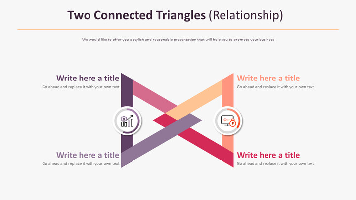 Two Connected Triangles Diagram (Relationship)_01