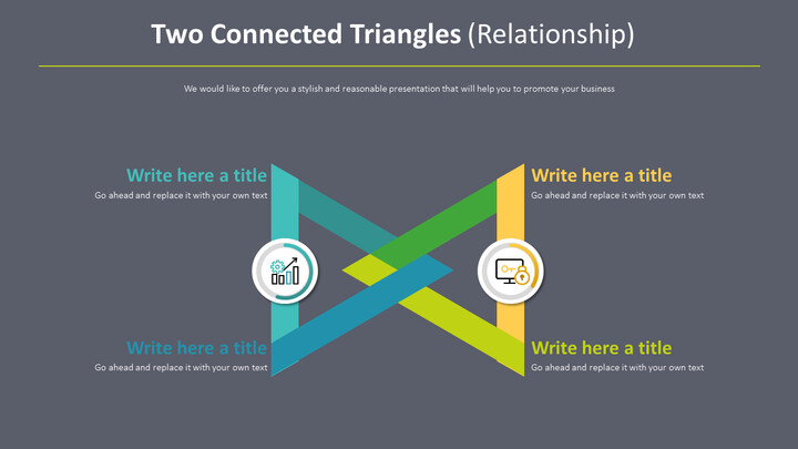 Two Connected Triangles Diagram (Relationship)_02