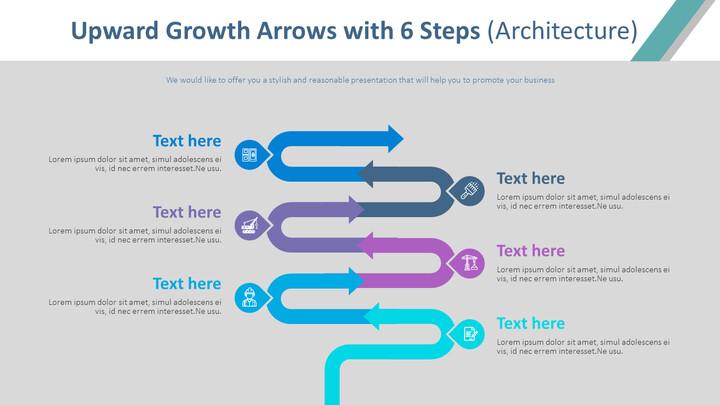 6 단계 다이어그램 (건축)를 가진 상향 성장 화살표_02