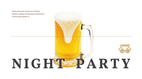 맥주 나이트 파티 파워포인트 프레젠테이션_23